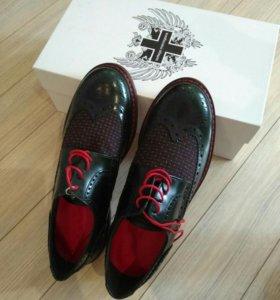 Мужские туфли италия оригинал,новые.