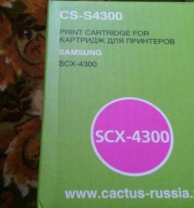 Тонер-картридж Cactus SСХ-4300 черный для Samsung