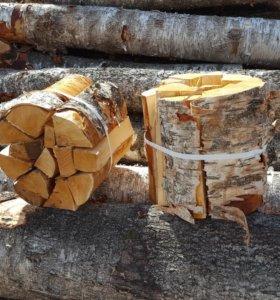Вязанка дров березовая