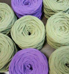 Пряжа трикотажная цвет хаки