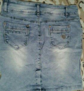 Юбка джинсовая стрейч.45см.