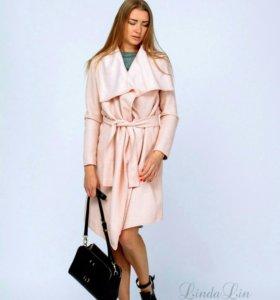 Розовое  пальто-кардиган!