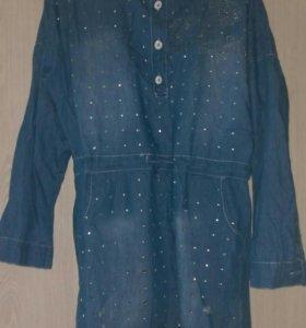 джинсовое платье, S