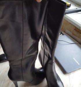 Сапоги кожаные новые