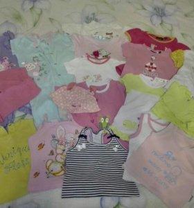 Одежда пакетом на лето для девочки размер 68-80