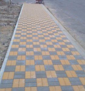 Асфальтирование дворов укладка тротуарной плитки