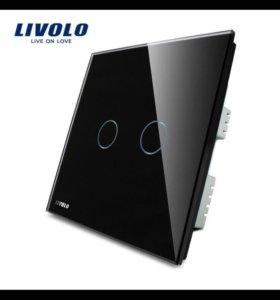 Сенсорный двойной переключатель света LIVOLO