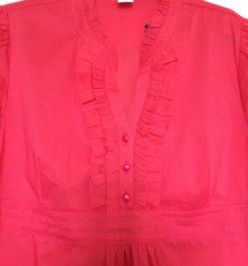Блузка новая для будущей мамы с коротким рукавом
