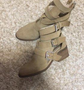 Открытые ботиночки Zara натуральные