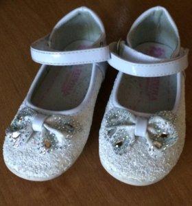 Праздничные туфли 24 размер. Идеальное состояние
