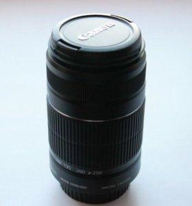 Объектив Canon EFS 55-250mm macro 1.1m/3.6ft