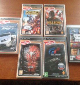 Продам 6 игр на PSP