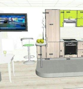 Дизайнер кухонь на дом