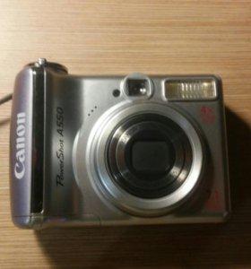 Фотоаппарат Canon PowerShot A550.