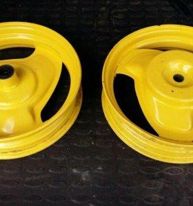 2 колеса 10 радиуса на скутер в порошке