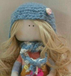 Интерьерная кукла из ткани ручной работы Лили