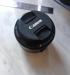 Обьектив canon 50mm 1.8