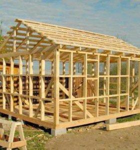 Строительство каркасных и щитовых дачных домов.