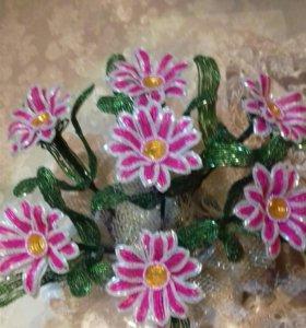 цветы и деревья из бисера о цене договоримся
