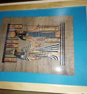 Папирус в рамке постер