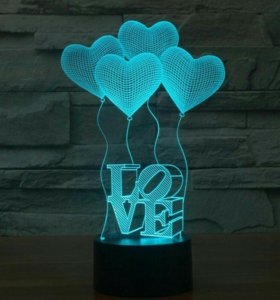 Светодиодный ночник Love
