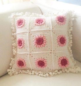Наволочка на подушку вязаная