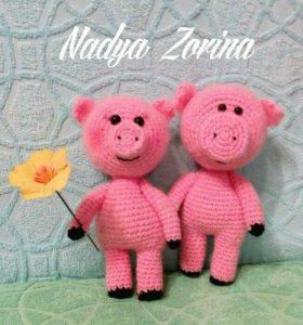 Вязаные свинки