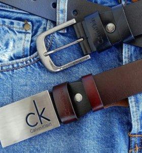 Ремни Calvin Klein натуральная кожа