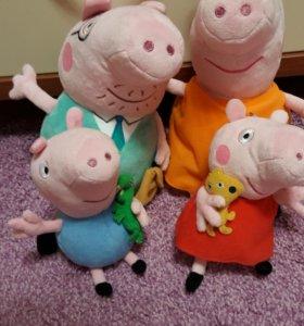 Набор мягких игрушек свинка пеппа.