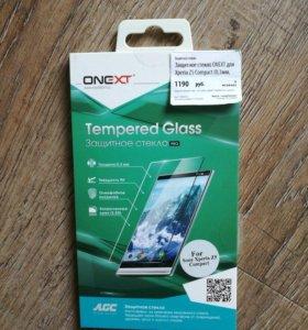 Защитное стекло и чехол для Sony z5mini