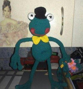 Лягуш вязаный