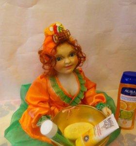 Кукла-держатель банно-ванных аксессуаров