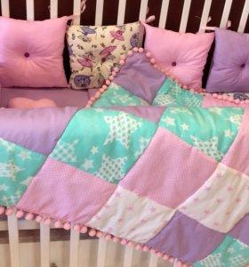 Лоскутное стеганое одеяло