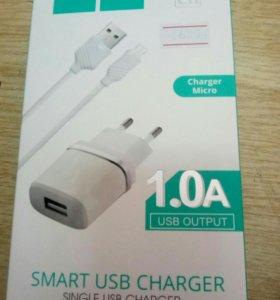 Сетевой переходник USB hoco 1.0A
