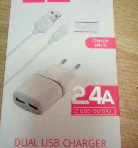 Сетевой переходник USB HOCO 2.4 A