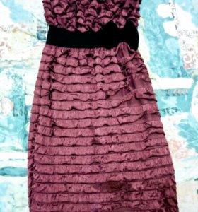Платье коктельное+накидка
