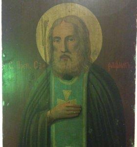 Серафим Саровский, Икона к.19 века 40х50см
