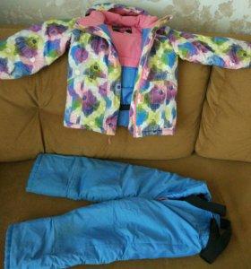 Зимний комплект на девочку 4-5лет