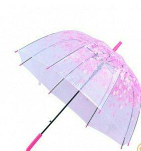 Зонт - трость полуавтомат