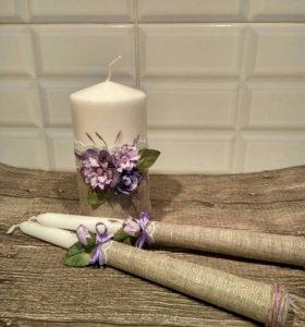 Свечи для семейного очага свадебные