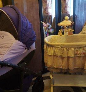 Детская коляска и кровать люлька