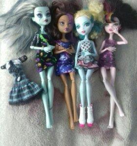 Куклы (монстр хай) 4шт.