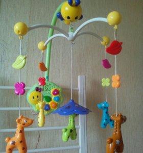 """Мобиль музыкальный """"Веселые жирафы"""""""