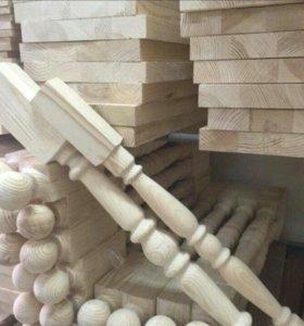 Элементы лестниц,балясины,столбы,ступени, поручни