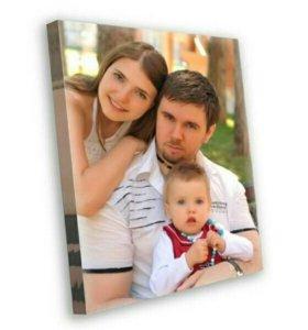 Печатаем портреты по фото на холсте