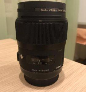 Объектив Sigma AF 35 mm f/1.4 DG HSM Art Sony