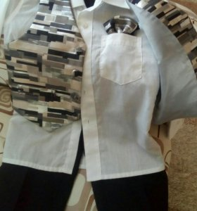 Брюки, рубашка, жилетка, костюм детский