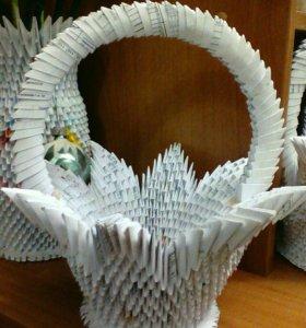 Корзиночка из оригами