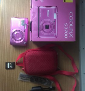 Фотоаппарат Nikon Coolpix s3700+чехол+карта памяти