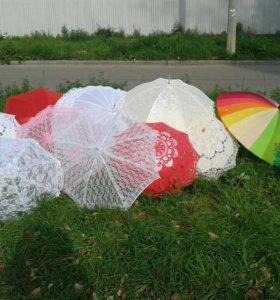 Свадебные зонты.